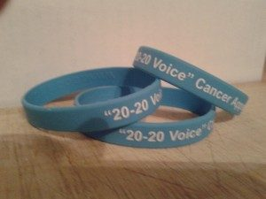 """20 20 Voice"" wristbands"